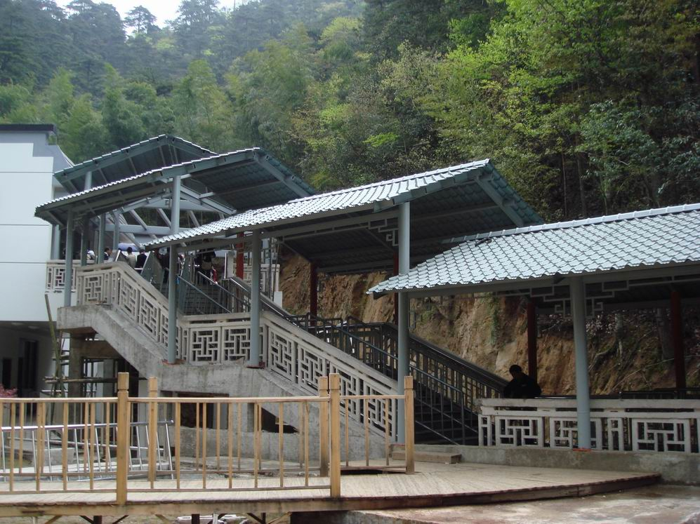黄山旅游风景区------云谷索道营造工程用材(天辅彩钢瓦)