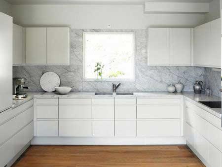高贵大理石台面橱柜 造明快中户型厨房