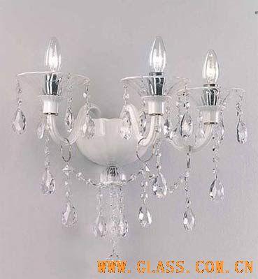 白色魅惑 简约玻璃壁灯