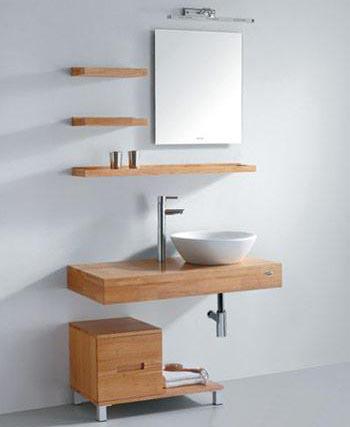 实木浴室柜 明快设计展现真我风采[图]