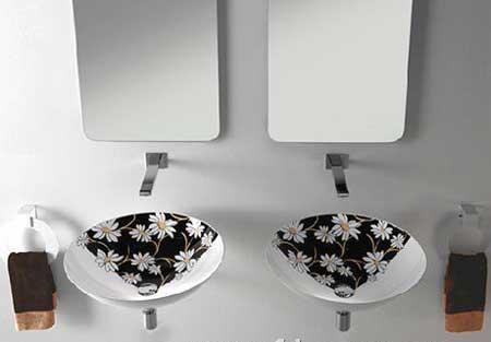 过目难忘 纯正艺术手绘陶瓷洗手盆(图)