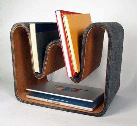 既当桌子又能做椅子 创意多用书架设计