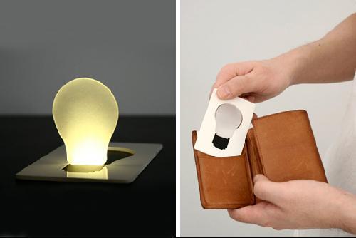 灯饰新概念――钱夹应急灯