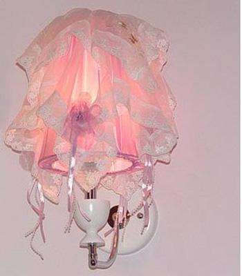 布艺蕾丝壁灯 扮靓时尚家居