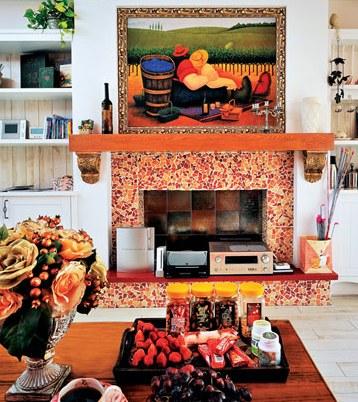 欧式壁炉 将是整个客厅的亮点(图)