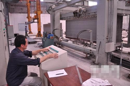 古田鹤塘石材厂生产绿色环保新型墙体材料加气砖