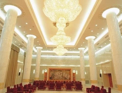赏析:人民大会堂四川厅精美石材圆柱