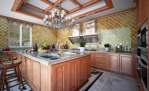 司米橱柜部分大户型橱柜案例赏析|15�O以上厨房怎么装修
