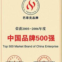 中国品牌500强证书
