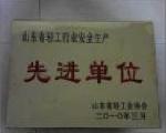 山东省轻工行业安全生产先进单位