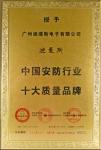 中国安防行业十大质量品牌