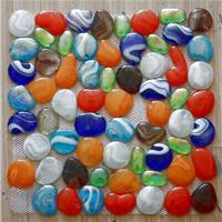 透明彩色鹅卵石(自由石)马赛克,网贴--七彩
