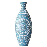 供应【地中海风格】浮雕手绘色釉陶瓷花器/威尔特花瓶