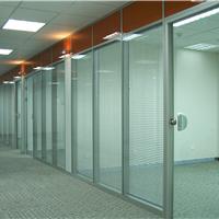 厂家直销办公玻璃高隔断铝型材氧化银色
