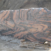 河南晚霞红画面石产地