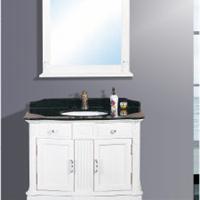 供应欧式大理石台面浴室柜/豪华浴室柜梳洗柜
