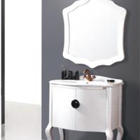 供应佛山大型浴室柜厂家/白色仿古浴室柜/浴室柜厂家直销