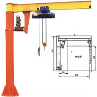 北京定柱式悬臂吊 悬臂运行电动葫芦型号