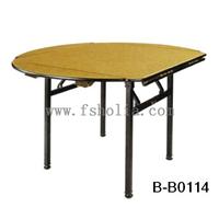 钢架酒店桌/折叠宴会桌/佛山厂
