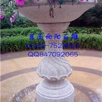 石雕花盆价格|黄锈石花盆花钵|黄金麻花盆