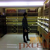 龙华中兴红酒实木酒架酒窖选鹏翔