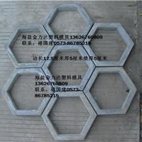供应六边形水泥块塑模锁扣塑模异形砖块塑模