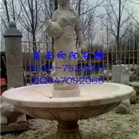专业制作石雕喷泉|侍女喷泉|黄锈石喷泉