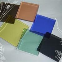 供应5-6彩色钢化玻璃