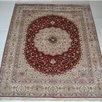 供应8X10平方英尺纯手工编织波斯地毯,手工真丝地毯 018