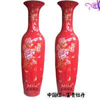供应中国红大花瓶 景德镇大花瓶 开业乔迁礼品大花瓶