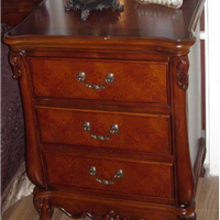 供应营口实木家具厂家 床头柜 美式床头柜