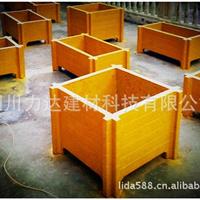 力达园林小品/仿木花箱/仿木栏杆/仿木垃圾桶/仿木栅栏