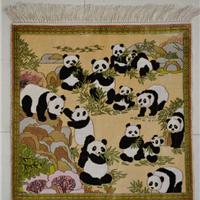 供应挂毯,真丝挂毯,高标准桑蚕丝手工编织地毯,挂毯 019