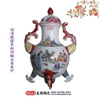 供应景德镇粉彩瓷器 粉彩赏瓶 粉彩陶瓷花瓶 定做粉彩瓷器