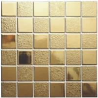 供应陶瓷金属釉马赛克、钛金马赛克、电镀马赛克