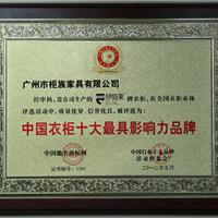 中国衣柜十大最具影响力品牌