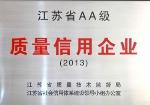 江苏省质量信用企业