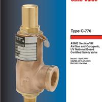 供应美国CASH低温安全阀C776现货供应