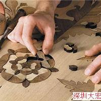 供应木皮、木地板拼花激光切割机雕刻机