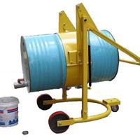 供应HD80简易式油桶倒料车 机械旋转式油桶车