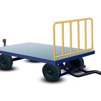 供应工厂/物流园用行李平板拖车 叉车牵引货物转运车