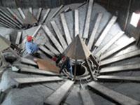 供应钢板库气化出料系统所用材料