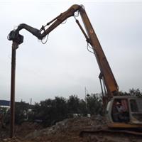 供应打桩机加长臂|打桩机震动锤16米钢板桩