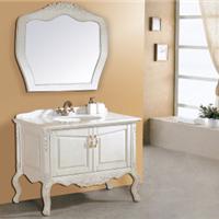 供应定做欧式时尚浴室柜/非标定做仿古橡木浴室柜