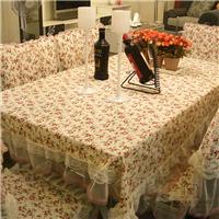 田园布艺蕾丝台布桌布