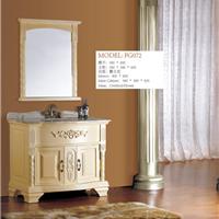供应橡木欧式橡木柜|象牙白台面盆浴室柜|雕花欧式台盆柜