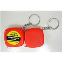 钢卷尺厂家供应精品钥匙扣礼品卷尺,小卷尺,1m规格卷尺