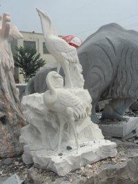供应石雕天鹅,石雕鹤,石雕松鹤延年,鸳鸯,麟凤龟龙