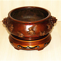 铜炉,一代制炉大师徐红军作品,吉祥工艺品厂