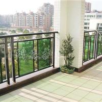 供应墨绿色阳台护栏彩色锌钢阳台护栏就找鸿森建材